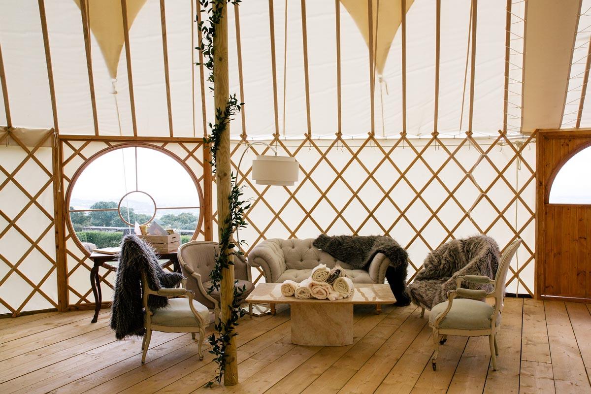 Hilles House Palace Yurt interior