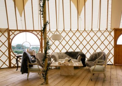 Hilles House Palace Yurt interior