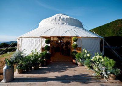 Hilles House Palace Yurt Entrance