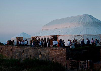 Hilles House Palace Yurt at dusk