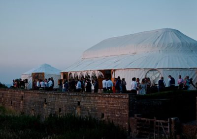 Hilles House Palace Yurt at dusk