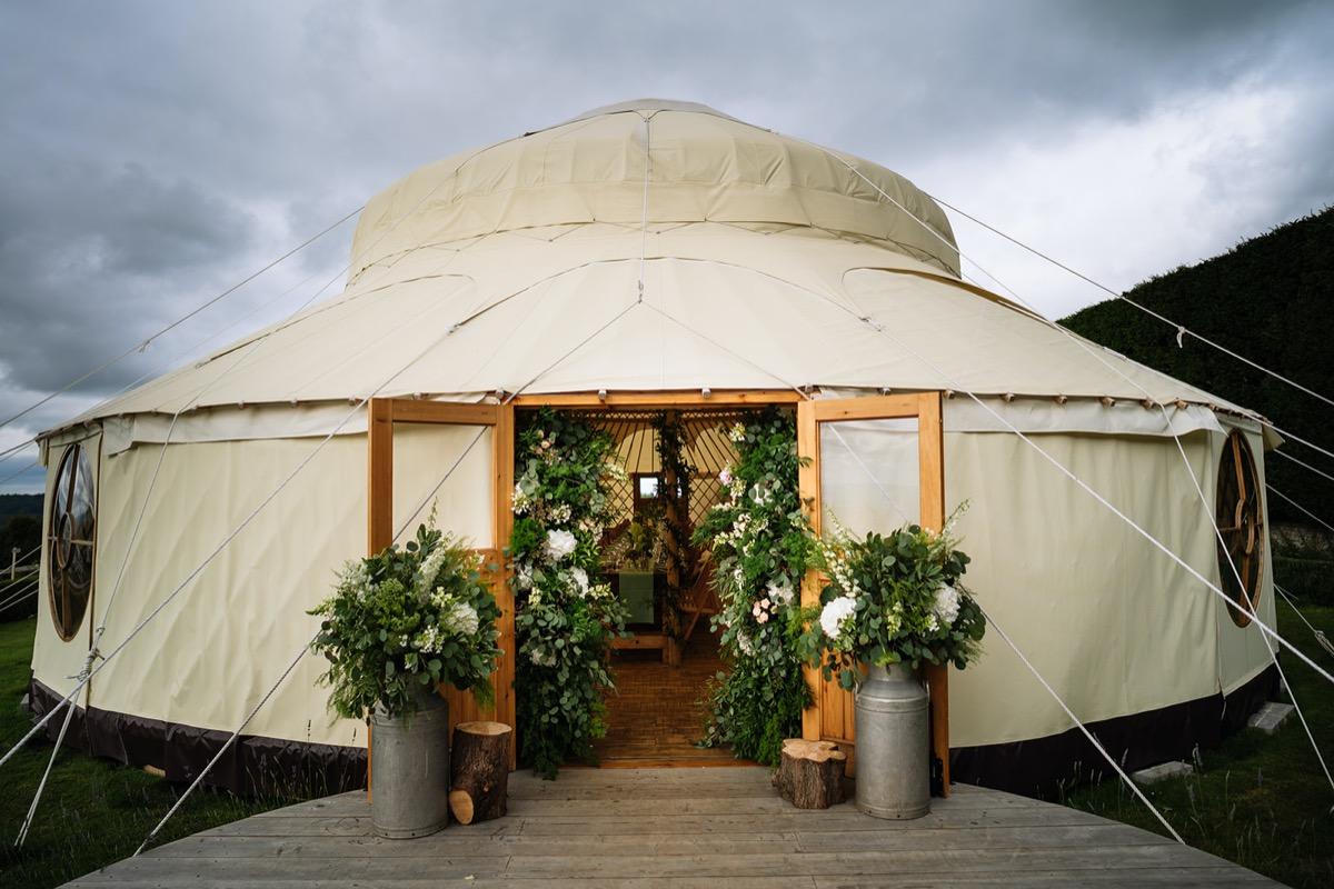 Hilles House Palace Yurt exterior